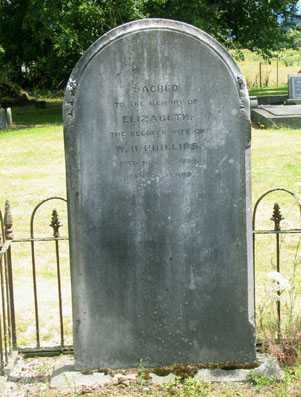 Grave of Elizabeth Phillips