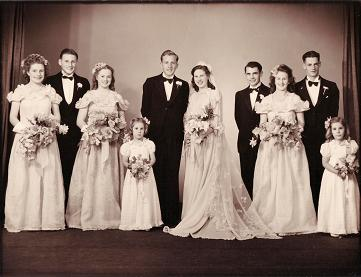 Jack & Glorias Wedding - 1947