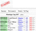 Kissling Moxon Marriage Record