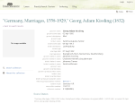 Kissling Tanner Marriage Record