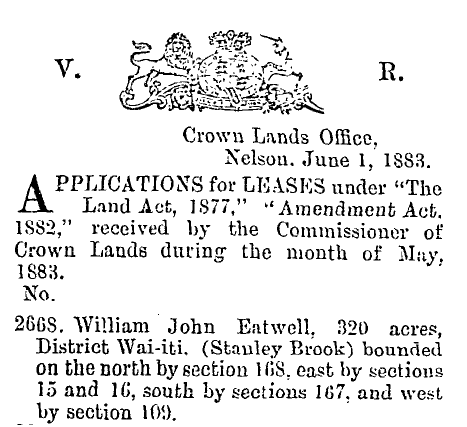 Lease in 1883